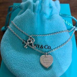 Tiffany & Co. Love heart tag key bracelet